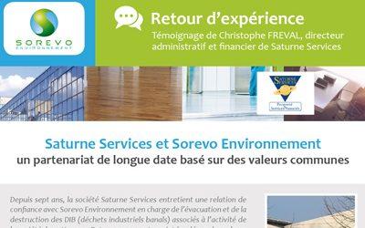 Retrouvez le retour sur expérience de la société SATURNE SERVICES