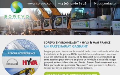 Découvrez le partanariat gagnant entre SOREVO ENVIRONNEMENT/ HYVA & MAN FRANCE