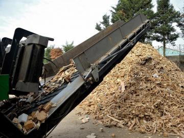 résultat d'un processus de recyclage du bois