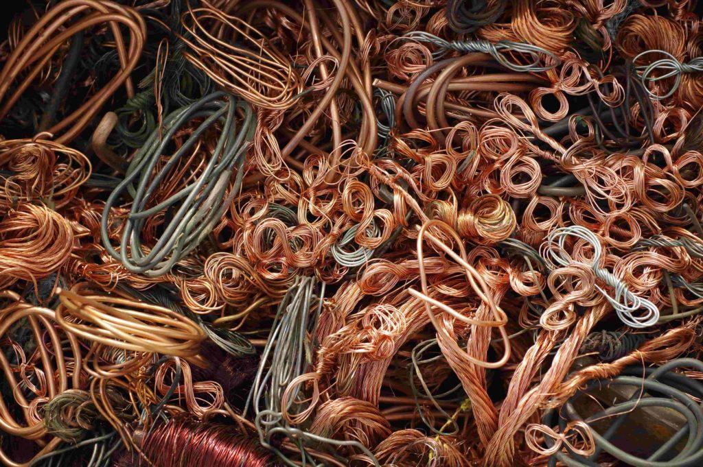 Câbles de cuivre brûlé