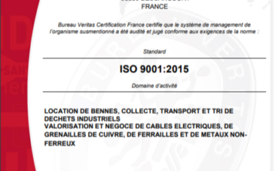 2020 : les certifications ISO et OHSAS renouvelées